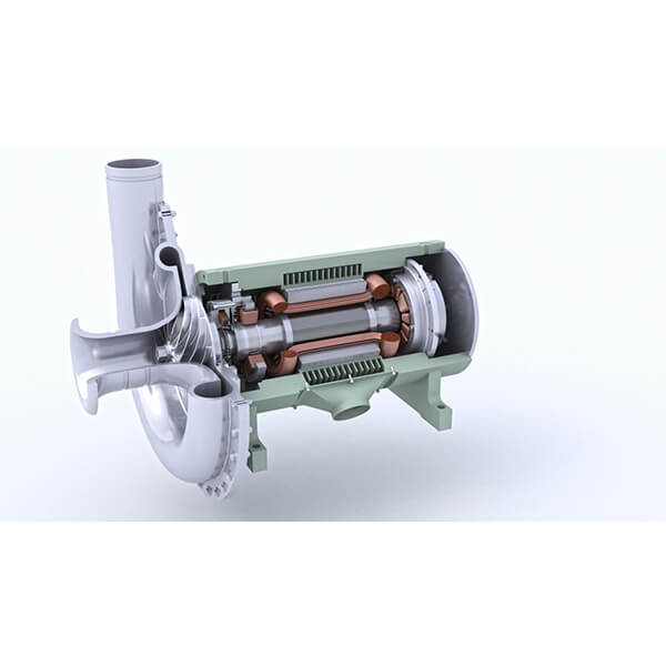 Magnetic-suspension-single-stage-centrifugal-blower